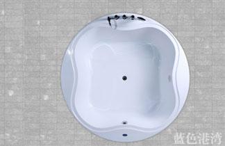 双人圆形浴缸